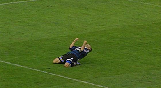 Takhle se uměl Radek Drulák radovat z gólu.