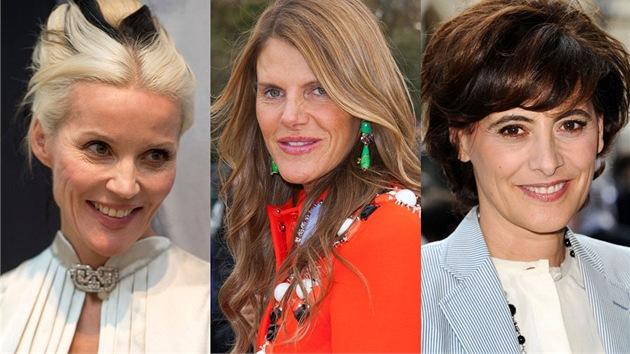 Daphne Guinness (45), Anna Dello Russo (51) a Ines de la Fressange (55) patří...