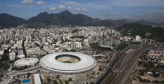 Rekonstruovaný fotbalový stadion Maracaná v Rio de Janeiru (12. května 2013)