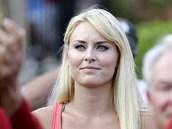 MŮJ MILÝ VYHRÁL. Lyžařka Lindsey Vonnová podporovala svého přítele Tigera Woodse na turnaji Players Championship.