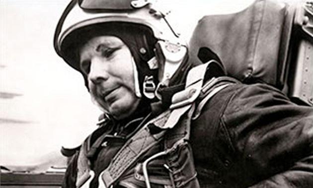 Jedna z posledních Gagarinových fotografií z po�átku roku 1968 z p�ípravy na...