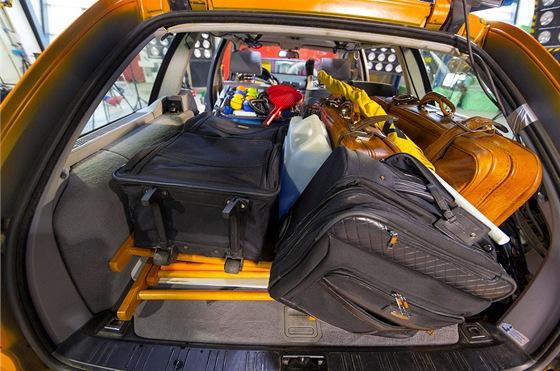 Crash test vozidla s plným zavazadlovým prostorem