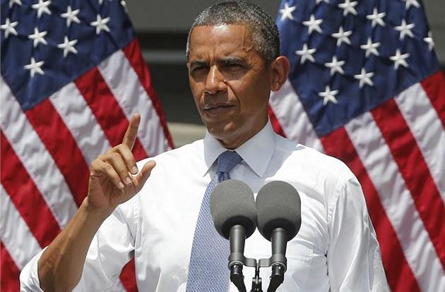 Barack obama se při projevu na georgetownské univerzitě pěkně