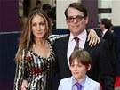 Sarah Jessica Parkerová, Matthew Broderick a jejich syn James (25. června 2013)