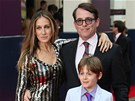 Sarah Jessica Parkerov�, Matthew Broderick a jejich syn James (25. �ervna 2013)