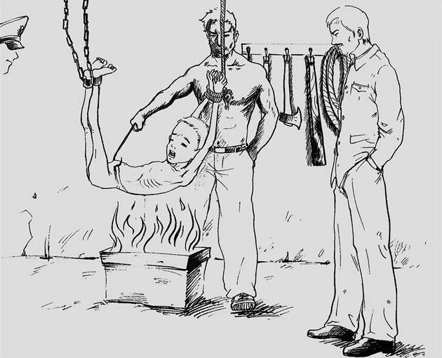 Sin Tong-hjok: ilustrace z knihy Útěk z tábora 14