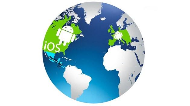 Android boduje v evropě i usa. ios se daří nejvíce ve spojených