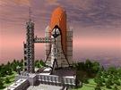 Kreativn� stavebnice Minecraft je fenom�n, kter� d�vno p�erostl za hranice po��ta�ov�ch her. Miliony kosti�ek vdechly �ivot mnoha �asn�m v�tvor�m. Na obr�zku je raketopl�n, kter� spolu se z�kladnou vznikal jako sou��st pro v�t�� projekt. Ten byl ov�em nakonec zru�en, a tak autor vystupuj�c� pod p�ezd�vkou Corpeh dal svoji ��st voln� ke sta�en�.