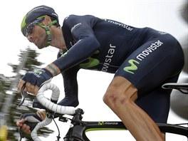 Alejandro Valverde při horské časovce na Tour de France.