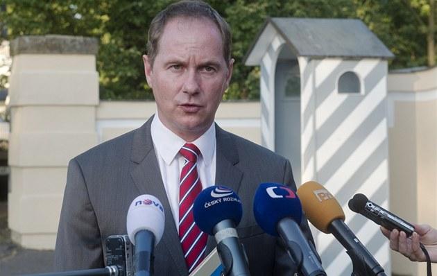 Šéf poslaneckého klubu TOP 09 a Starostů Petr Gazdík v Lánech.