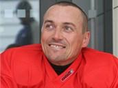 VETERÁN V JIHLAVĚ. Hokejový útočník Viktor Ujčík zahájil přípravu na novou sezonu s Jihlavou.