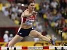 SOUSTŘEDĚNÍ. Zuzana Hejnová běží za vítězstvím na MS v Moskvě v závodě na 400 metrů překážek.