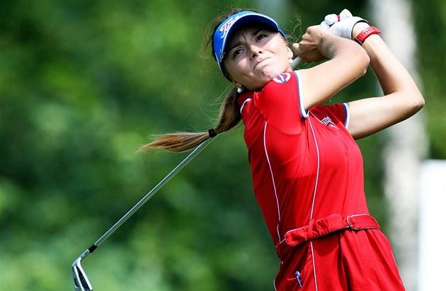 �eská golfistka Klára Spilková v ned�lním záv�re�ném kole turnaje série Ladies...