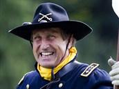 Herec Václav Vydra jako generál Custer