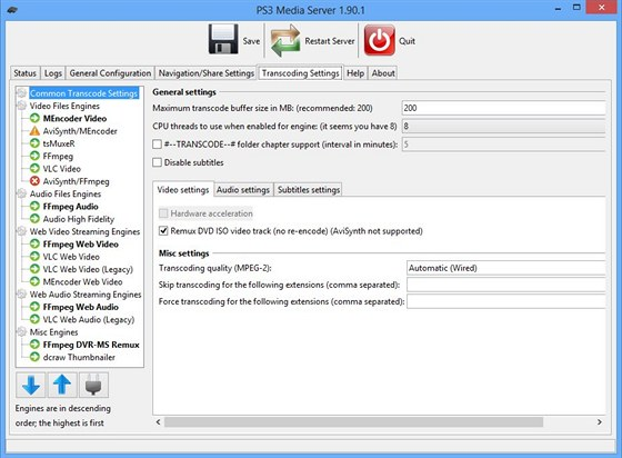 PS3 Media Server 1.9