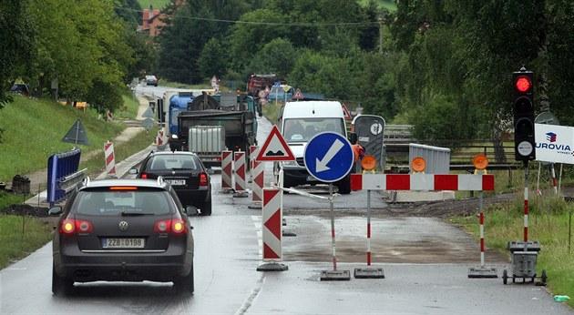 Oprava silnice z Dolní Lhoty do Horní Lhoty