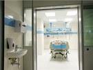 Pohled do jednoho z boxů nového iktového centra sokolovské nemocnice.