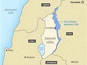 MAPA: Golanské výšiny