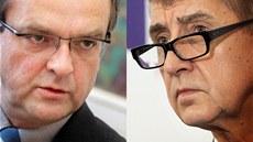 Miroslav Kalousek (TOP 09) a Andrej Babi� (ANO)