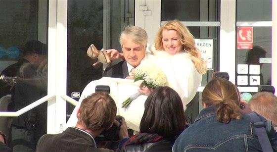 Svatba Ivety Bartošové a Josefa Rychtáře