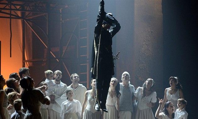 Generálka k premié�e muzikálové komedie Zorro s hudbou skupiny The Gipsy Kings...