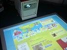 FOR TOYS 2013, Magic Box, interaktivní podlahový projektor lze připojit on-line a ovládat i internet