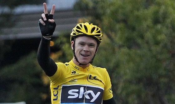 V JAKO VÍTĚZSTVÍ. Britský cyklista Chris Froome ovládl i poslední závod své sezony v Japonsku.