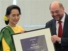 Su Ťij si do Štrasburku přijela pro Sacharovovu cenu.