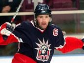 2007. Jágr coby kapitán New York Rangers.