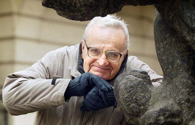Jazzman Ferdinand Havlík na snímku z února 2004