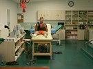 NA PŘÍSTROJÍCH. Jablonecký gólman Roman Valeš si doléčuje zranění stehna. K dispozici má například ultrazvuk i laser.