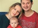 Herečka Tereza Bebarová s manželem a s dcerou.