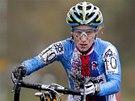 Pavla Havlíková při závodu žen na mistrovství Evropy v cyklokrosu.