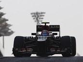NA OBZORU. Romain Grosjean při tréninku na Velkou cenu Abú Zabí.