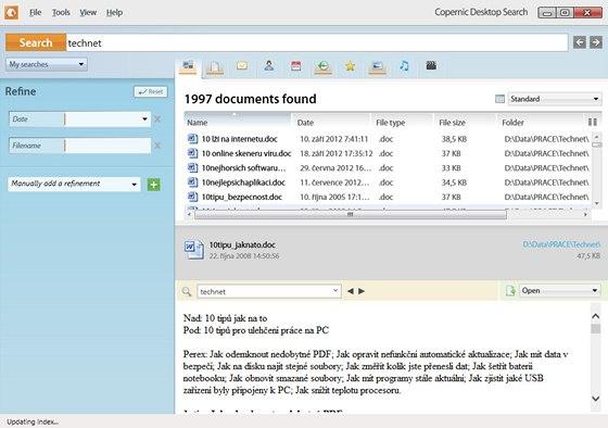 Copernic Desktop Search Lite