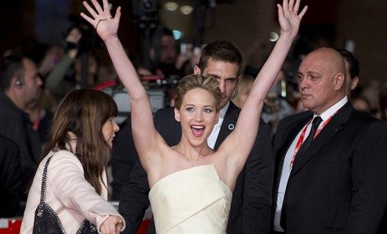 """Jennifer Lawrencová propagovala v Římě """"dvojku"""" megahitu Hunger Games."""