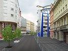 Tak by už letos mohla vypadat ulice 28. října v centru Ostravy. Nová cesta i chodníky, na nich vzrostlé javory.