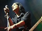 Brian Molko z Placebo na koncert� 14.11. 2013 v pra�sk� Lucern�.