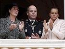Monacká princezna Caroline, monacký kníže Albert II. a monacká princezna Stephanie (19. listopadu 2013)