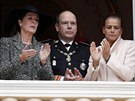 Monack� princezna Caroline, monack� kn�e Albert II. a monack� princezna Stephanie (19. listopadu 2013)