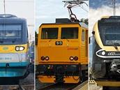 Nejv�t�í �elezni�ní dopravci v �esku. �eské dráhy, RegioJet a Leo Express.