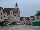 Jedno z velkých uměle vybudovaných měst v americkém výcvikovém centru poblíž německého Hohenfelsu.