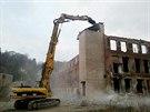 Začala demolice areálu Tepny v Náchodě (25.11.2013).