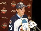 Jan Ko���lek  po draftu 2013, kdy si ho vybral Winnipeg