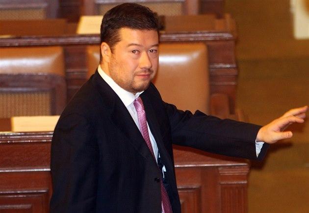 Poslanec Tomio Okamura neusp�l ani ve druhé volb� �tvrtého místop�edsedy...