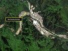 Satelitní snímek severokorejského pracovního táboru (květen 2013)