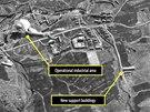 Satelitní snímek severokorejského pracovního táboru (listopad 2012)