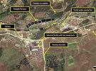 Satelitní snímek severokorejského pracovního táboru (červen 2010)