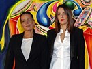 Monack� princezna Stephanie a jej� dcera Pauline Ducretov� (1. prosince 2013)