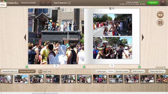 Automatické umístění fotek v případě Rajčete funguje velmi dobře, neplýtvá místem a fotky umístilo smysluplně.